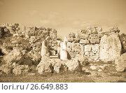 Купить «prehistoric Ggantija temples», фото № 26649883, снято 18 декабря 2010 г. (c) Яков Филимонов / Фотобанк Лори