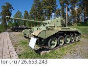 """Купить «Британский средний крейсерский танк """"Comet MK1 model B"""" в танковом музее Паролы. Финляндия», фото № 26653243, снято 10 июня 2017 г. (c) Виктор Карасев / Фотобанк Лори"""