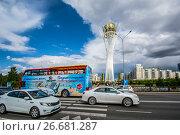 Купить «Казахстан. Астана. Бульвар Нуржол», фото № 26681287, снято 10 июня 2017 г. (c) Сергеев Валерий / Фотобанк Лори