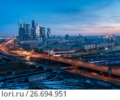 Moscow city from above, фото № 26694951, снято 10 марта 2017 г. (c) Liseykina / Фотобанк Лори