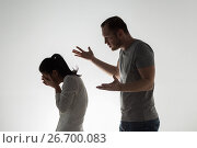 Купить «angry couple having argument», фото № 26700083, снято 20 января 2017 г. (c) Syda Productions / Фотобанк Лори