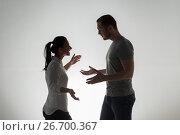 Купить «angry couple having argument», фото № 26700367, снято 20 января 2017 г. (c) Syda Productions / Фотобанк Лори