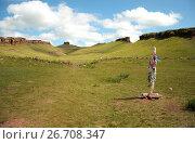 Купить «Горная гряда Сундуки. Хакасия», фото № 26708347, снято 7 августа 2011 г. (c) Сапрыгин Сергей / Фотобанк Лори