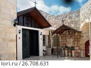 Купить «Внутренний дворик греческого монастыря святого Георгия Победоносца в Рамле», фото № 26708631, снято 22 июля 2017 г. (c) Irina Opachevsky / Фотобанк Лори