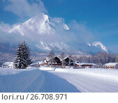 Купить «Snowscene Leutasch, Österreich, Austria», фото № 26708971, снято 21 июля 2018 г. (c) age Fotostock / Фотобанк Лори