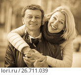 Купить «Couple spending time outdoors», фото № 26711039, снято 19 февраля 2019 г. (c) Яков Филимонов / Фотобанк Лори