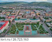 Чита, центр города (2017 год). Стоковое фото, фотограф Геннадий Соловьев / Фотобанк Лори