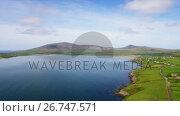 Купить «View of beautiful coastal landscape 4k», видеоролик № 26747571, снято 17 июля 2019 г. (c) Wavebreak Media / Фотобанк Лори