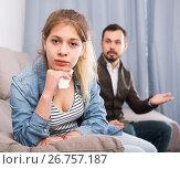 Купить «Father and daughter arguing», фото № 26757187, снято 4 марта 2017 г. (c) Яков Филимонов / Фотобанк Лори