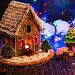 Gingerbread house with lights, фото № 26762455, снято 6 ноября 2016 г. (c) Jan Jack Russo Media / Фотобанк Лори