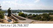 Купить «Панорамный вид на Дунай и Белград с высоты Белградской крепости, Сербия», фото № 26768307, снято 31 июля 2017 г. (c) V.Ivantsov / Фотобанк Лори