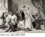 Купить «Lady Jane Grey's reluctance to accept the crown, Sion House, July 8th, 1553. Lady Jane Grey, 1536/1537 to 1554, aka The Nine Days' Queen. English noblewoman...», фото № 26769359, снято 20 января 2019 г. (c) age Fotostock / Фотобанк Лори