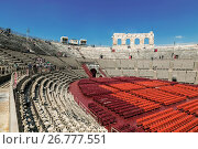 Купить «Арена ди Верона - античный римский амфитеатр в Вероне, Италия», фото № 26777551, снято 21 апреля 2017 г. (c) Наталья Волкова / Фотобанк Лори