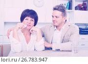 Купить «upset mother turned away from son», фото № 26783947, снято 19 октября 2019 г. (c) Яков Филимонов / Фотобанк Лори