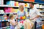 Family in dairy section in supermarket, фото № 26785167, снято 24 августа 2017 г. (c) Яков Филимонов / Фотобанк Лори