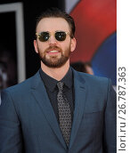 Купить «World Premiere of 'Captain America: Civil War' at Dolby Theatre in Hollywood - Arrivals Featuring: Chris Evans Where: Los Angeles, California, United States When: 12 Apr 2016 Credit: Apega/WENN.com», фото № 26787363, снято 12 апреля 2016 г. (c) age Fotostock / Фотобанк Лори