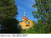 Купить «Вознесенская церковь-маяк на Секирной горе на Большом Соловецком острове», фото № 26803007, снято 16 августа 2017 г. (c) Natalya Sidorova / Фотобанк Лори