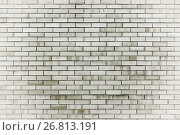 Texture stone background of red brick wall, texture wall surface with red bricks, фото № 26813191, снято 27 мая 2017 г. (c) Зезелина Марина / Фотобанк Лори