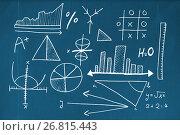 Купить «Composite image of mathematical equations with bar graph», иллюстрация № 26815443 (c) Wavebreak Media / Фотобанк Лори