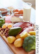 Купить «natural rich in protein food on table», фото № 26816907, снято 14 мая 2015 г. (c) Syda Productions / Фотобанк Лори
