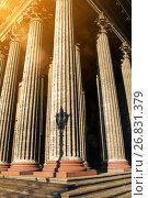 Купить «Казанский собор, Санкт-Петербург, Россия. Колоннада Казанского собора», фото № 26831379, снято 15 августа 2017 г. (c) Зезелина Марина / Фотобанк Лори