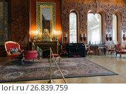 Интерьер музыкальной гостиной в Юсуповском дворце на Мойке, Санкт-Петербург, фото № 26839759, снято 30 августа 2017 г. (c) Stockphoto / Фотобанк Лори