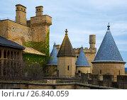 Купить «Towers of gothic castle», фото № 26840059, снято 20 апреля 2016 г. (c) Яков Филимонов / Фотобанк Лори