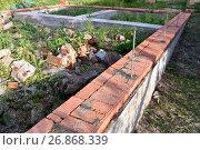 Купить «Фундамент под дом», эксклюзивное фото № 26868339, снято 2 июля 2017 г. (c) Юрий Морозов / Фотобанк Лори
