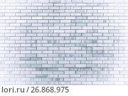 Купить «Текстура каменной стены из серых кирпичей», фото № 26868975, снято 27 мая 2017 г. (c) Зезелина Марина / Фотобанк Лори
