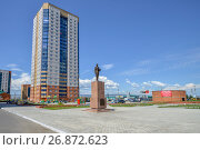 The monument to Tsarevich Nicholas in Cossack square in Chita, Zabaykalsky Krai, Russia - July 26, 2017, фото № 26872623, снято 26 июля 2017 г. (c) Геннадий Соловьев / Фотобанк Лори