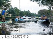 Купить «Дороги Хьюстона после потопа. Последствия урагана Харви, Техас, США», фото № 26873015, снято 2 сентября 2017 г. (c) Ирина Кожемякина / Фотобанк Лори