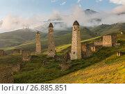 Боевые башни Эрзи, Ингушетия. Стоковое фото, фотограф Ирина Яровая / Фотобанк Лори