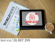 Купить «Email spam on the screen», фото № 26887399, снято 6 июня 2020 г. (c) Wavebreak Media / Фотобанк Лори