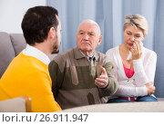 Купить «Parents arguing with son», фото № 26911947, снято 19 марта 2019 г. (c) Яков Филимонов / Фотобанк Лори