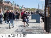 Kajplats Quay, Strandvagen Street, Stockholm, Sweden. (2017 год). Редакционное фото, фотограф Kevin George / age Fotostock / Фотобанк Лори