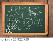 chemical science formula on blackboard. Стоковое фото, агентство Wavebreak Media / Фотобанк Лори