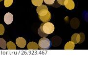 Купить «blurred chtistmas lights over dark background», видеоролик № 26923467, снято 9 сентября 2017 г. (c) Syda Productions / Фотобанк Лори