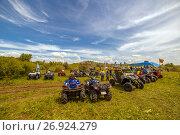 Купить «Квадроциклы на природе», фото № 26924279, снято 10 июня 2017 г. (c) Акиньшин Владимир / Фотобанк Лори
