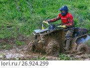 Гонки на квадроциклах по грязи (2017 год). Редакционное фото, фотограф Акиньшин Владимир / Фотобанк Лори