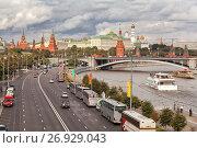 Купить «Вид на Кремль и набережную Москвы-реки», фото № 26929043, снято 25 августа 2012 г. (c) Александр Гаценко / Фотобанк Лори