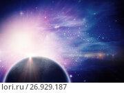 Купить «Composite image of earth with shadow over white background», иллюстрация № 26929187 (c) Wavebreak Media / Фотобанк Лори