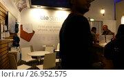 Купить «Pavilion Tile Slim at IFA, Messe, Berlin, Germany», видеоролик № 26952575, снято 24 мая 2017 г. (c) BestPhotoStudio / Фотобанк Лори