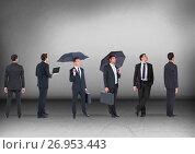 Group of Businessmen looking in same directions. Стоковое фото, агентство Wavebreak Media / Фотобанк Лори