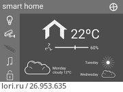 Купить «Smart house application interface», иллюстрация № 26953635 (c) Wavebreak Media / Фотобанк Лори