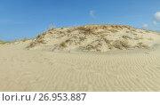 Купить «Sand Dune in blue sky», фото № 26953887, снято 19 июля 2017 г. (c) Geraldas Galinauskas / Фотобанк Лори
