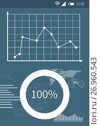 Купить «Business phone interface with graphics», иллюстрация № 26960543 (c) Wavebreak Media / Фотобанк Лори