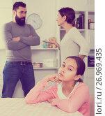 Купить «Parents arguing at home», фото № 26969435, снято 19 февраля 2019 г. (c) Яков Филимонов / Фотобанк Лори