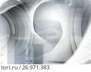 Abstract transition with futuristic shapes. Стоковая иллюстрация, агентство Wavebreak Media / Фотобанк Лори