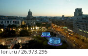 Купить «Square of Catalonia is picturesque place in Spain», видеоролик № 26973295, снято 26 июня 2017 г. (c) Яков Филимонов / Фотобанк Лори