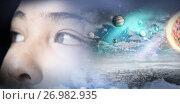 Купить «Composite image of composite image of solar system against white background», фото № 26982935, снято 25 июня 2019 г. (c) Wavebreak Media / Фотобанк Лори